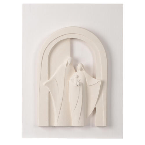 Holy Family wooden porch in clay Centro Ave 40,5 cm 1