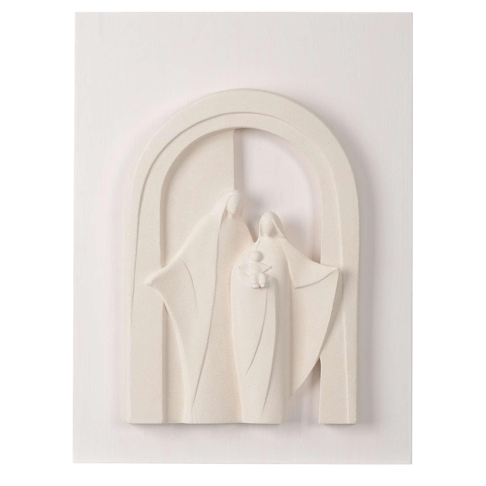 Sagrada Familia en pórtico madera y arcilla Centro Ave 40,5 cm 4