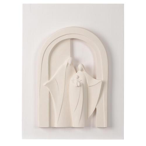 Sagrada Familia en pórtico madera y arcilla Centro Ave 40,5 cm 1