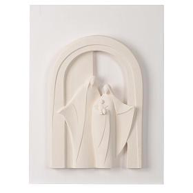 Sacra Famiglia portico legno argilla Centro Ave 40,5 cm s1