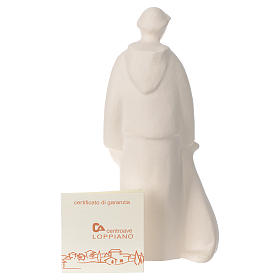 Saint Francis in clay Centro Ave 15 cm s4