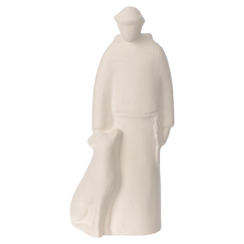 Saint Francis in clay Centro Ave 15 cm 1