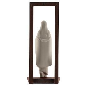 Virgen con Niño arcilla y marco 32 cm s5