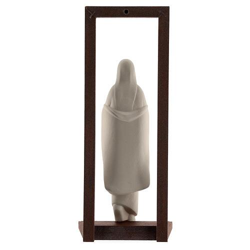 Virgen con Niño arcilla y marco 32 cm 5