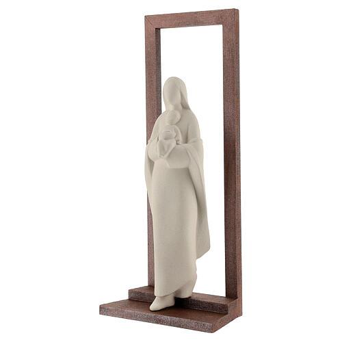 Madonna con Bambino argilla e cornice 32 cm 3