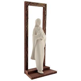 Marco decorado con estatua Virgen y Niño 32 cm s4