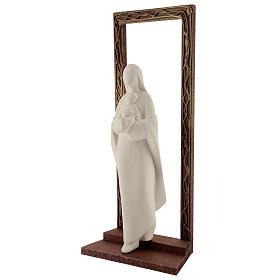 Cornice decorata con statua Madonna e Bambino 32 cm s3