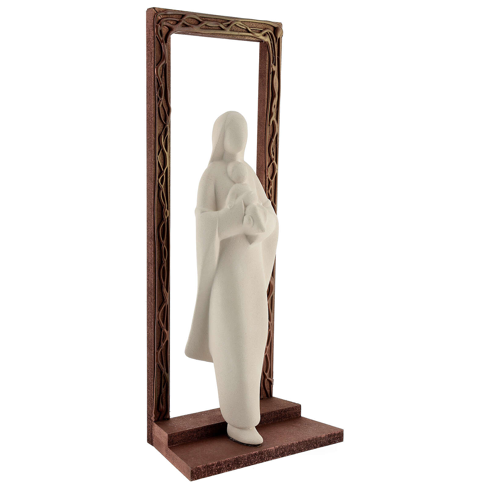 Mary and Child statue, 32 cm with decorated frame 4