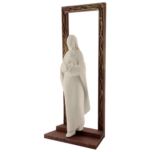 Mary and Child statue, 32 cm with decorated frame 3