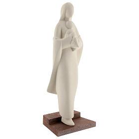 Virgen con Niño con escalón arcilla 25 cm s4