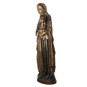 Our Lady of Boquen in gold finishing painted wood 145 cm Bethlee s3