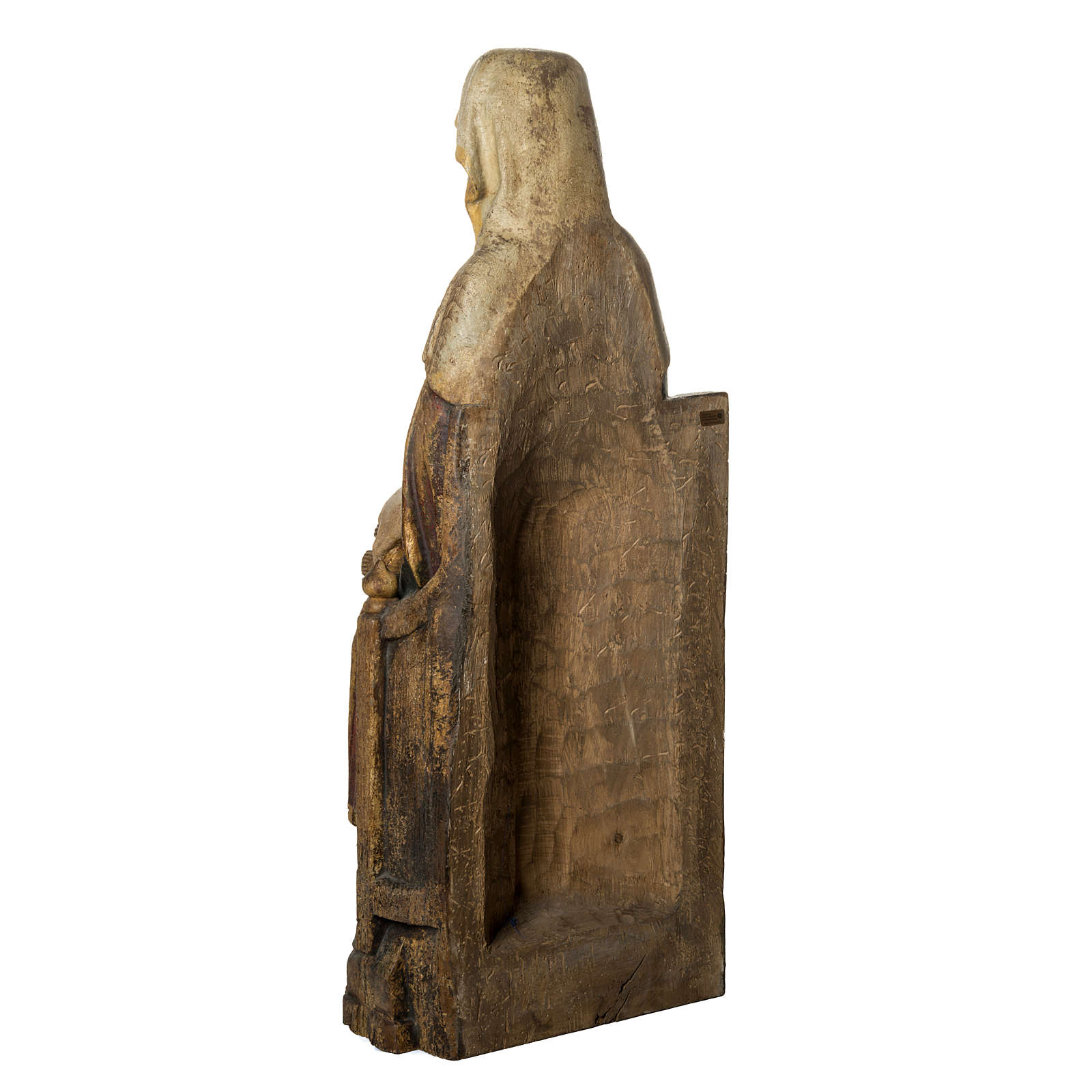 Sant'Anna con Maria 118 cm legno finitura antico Bethléem 4