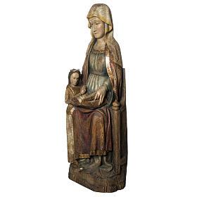 Sant'Anna con Maria 118 cm legno finitura antico Bethléem s3