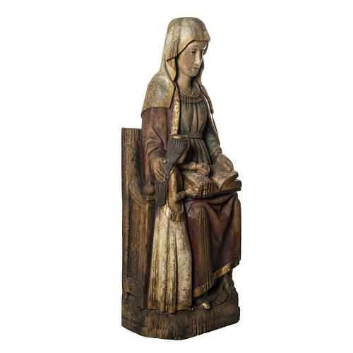 Sant'Anna con Maria 118 cm legno finitura antico Bethléem 2