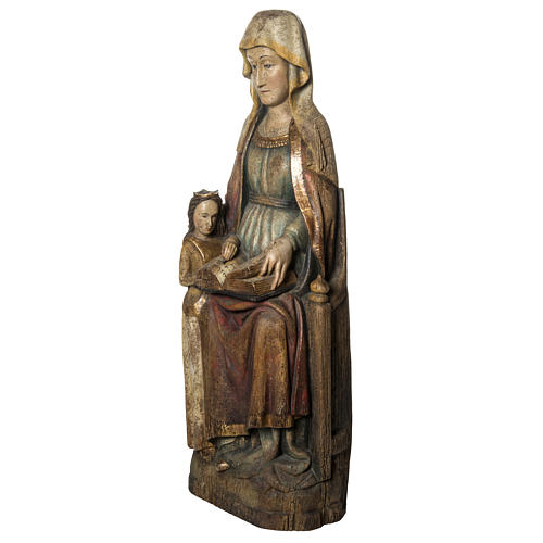 Sant'Anna con Maria 118 cm legno finitura antico Bethléem 3