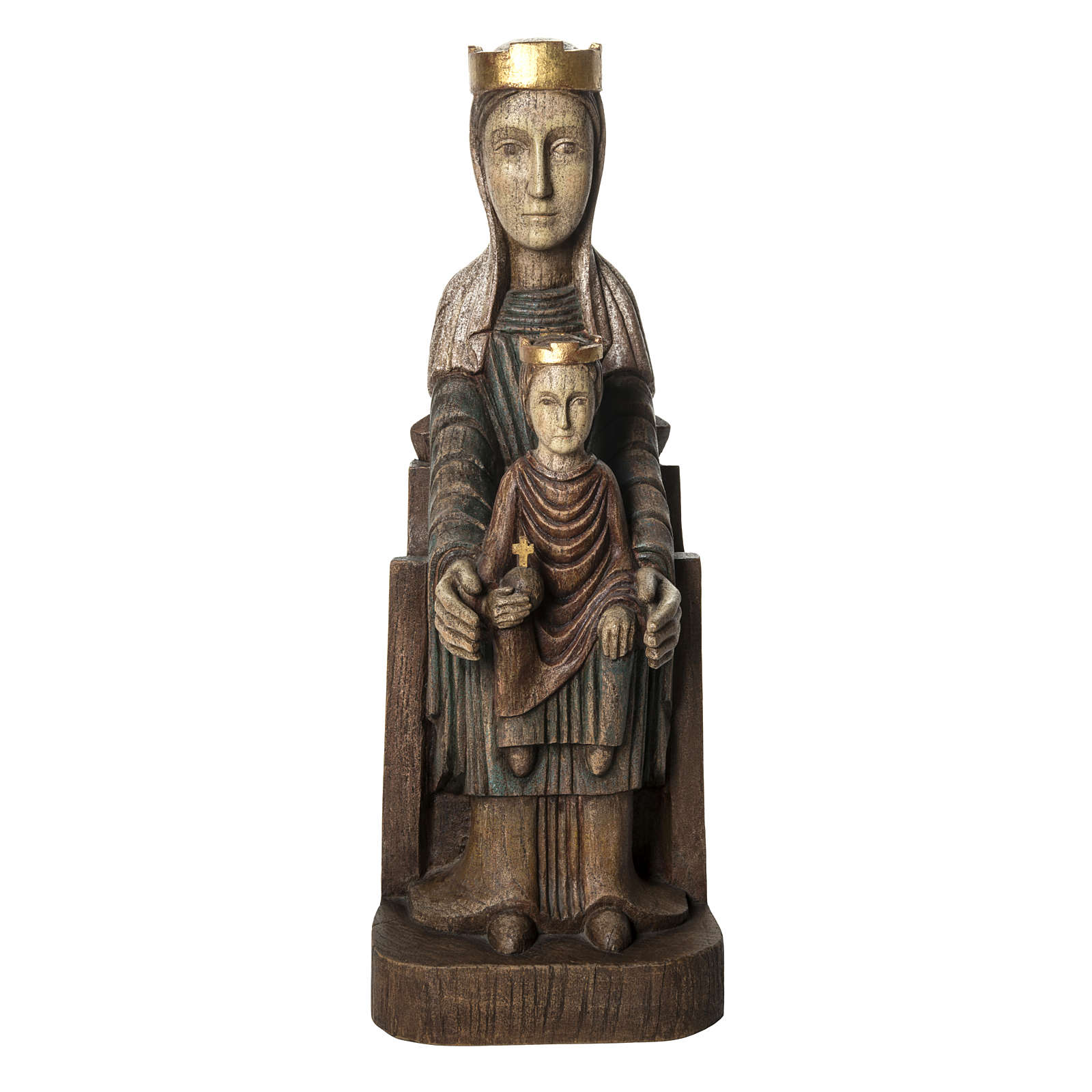 Vergine Incoronata di Séez 66 cm legno dipinto Bethléem 4