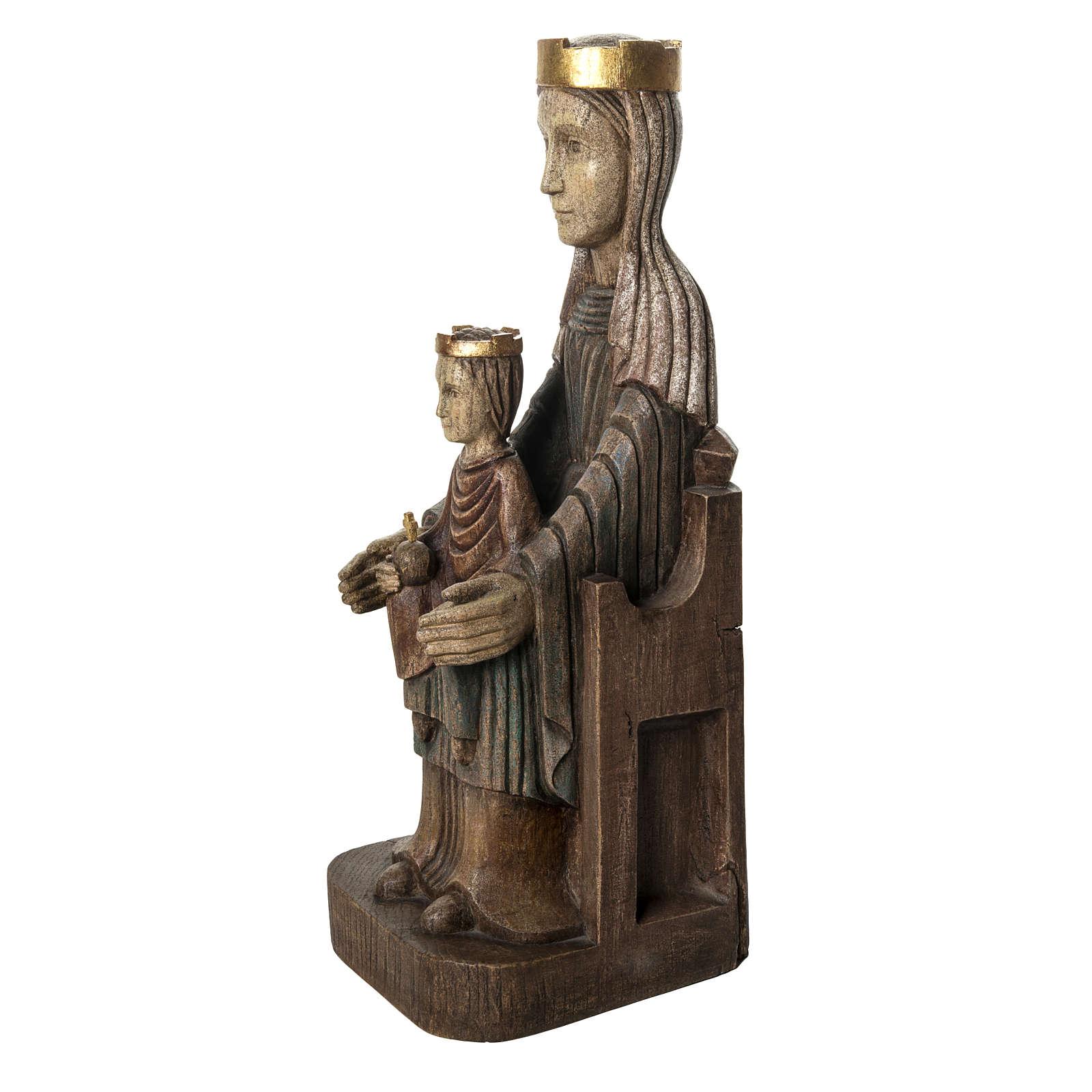 Crowned Virgin of Seez statue in painted wood 66 cm, Bethleem 4