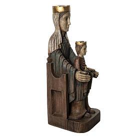 Crowned Virgin of Seez statue in painted wood 66 cm, Bethleem s2