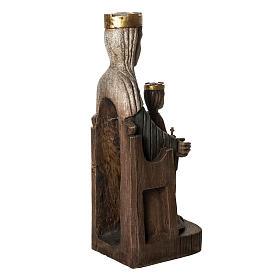 Crowned Virgin of Seez statue in painted wood 66 cm, Bethleem s4