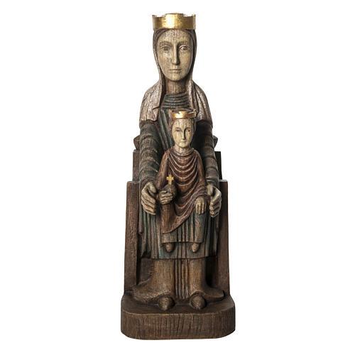 Crowned Virgin of Seez statue in painted wood 66 cm, Bethleem 1