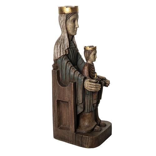 Crowned Virgin of Seez statue in painted wood 66 cm, Bethleem 2