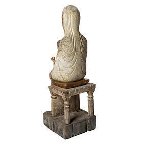 Sedes Sapientiae 72 cm legno finitura antico Bethléem s4