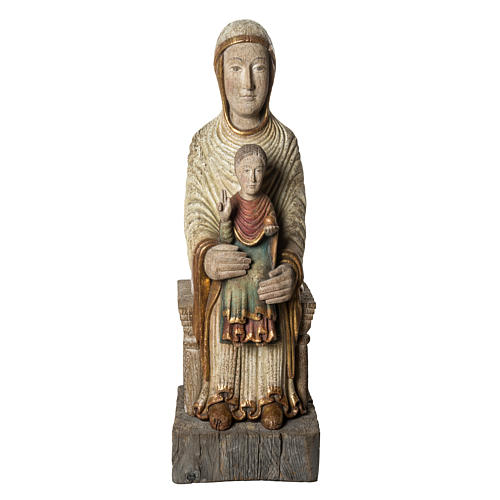 Sedes Sapientiae 72 cm legno finitura antico Bethléem 1