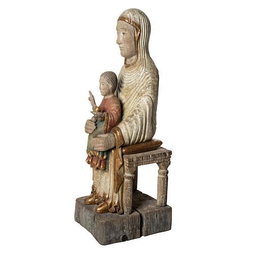 Sedes Sapientiae 72 cm legno finitura antico Bethléem 3