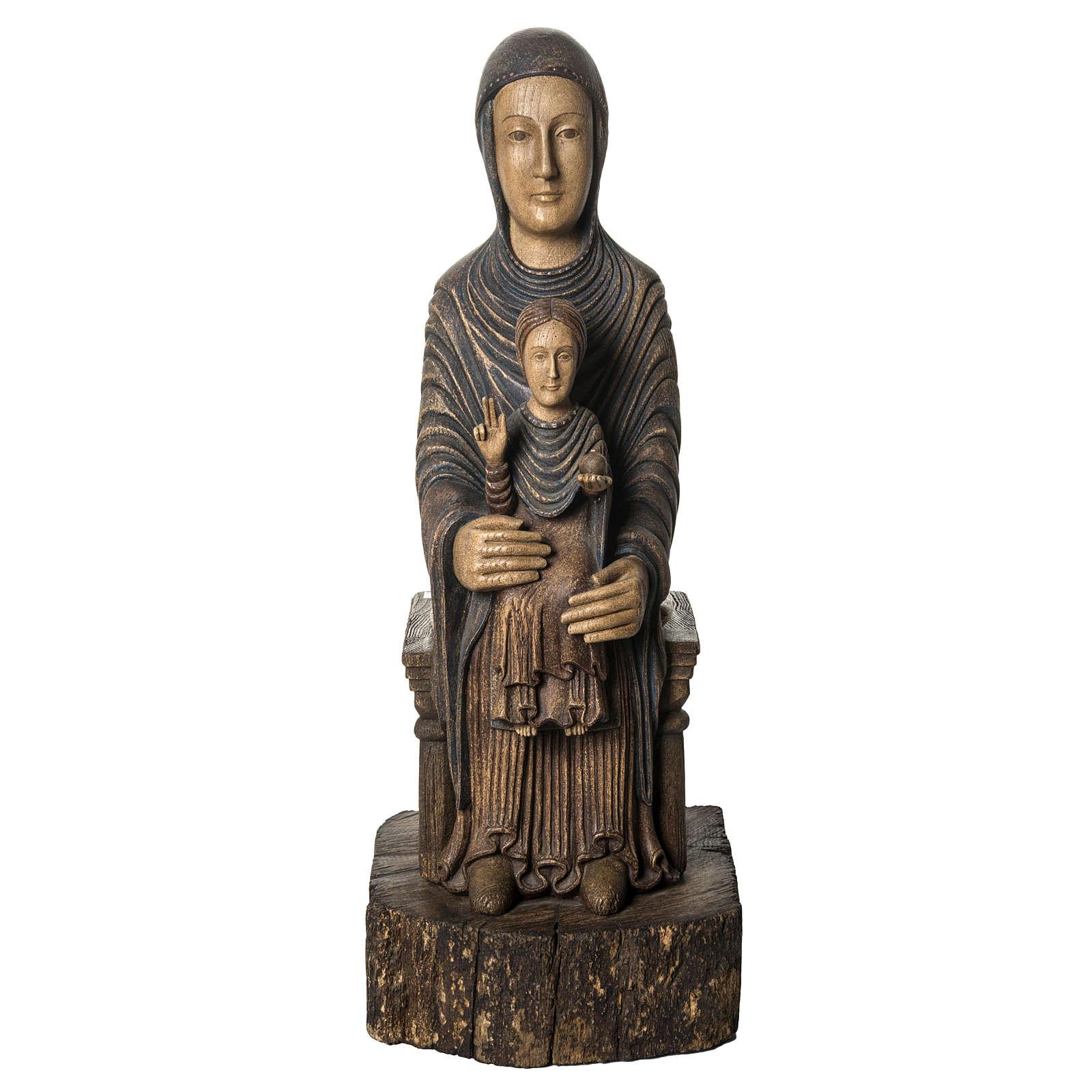 Maria Sitz der Weisheit 72cm Holz Bethleem 4
