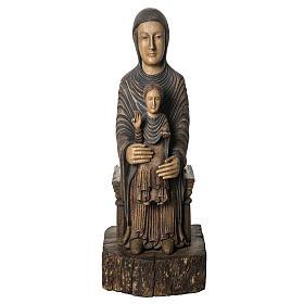 Maria Sitz der Weisheit 72cm Holz Bethleem s1