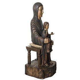Maria Sitz der Weisheit 72cm Holz Bethleem s2