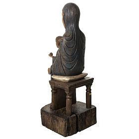 Maria Sitz der Weisheit 72cm Holz Bethleem s4