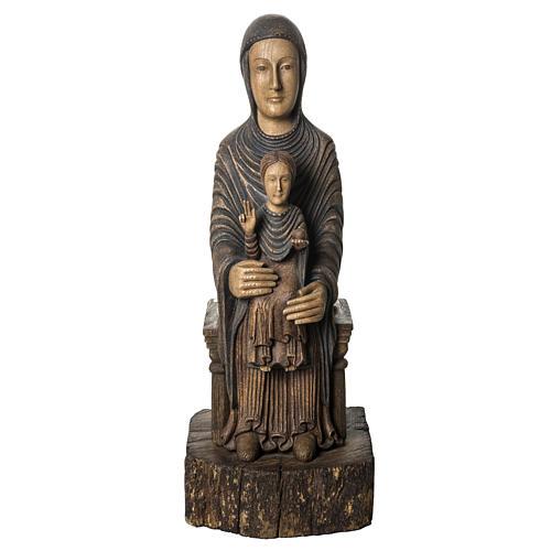 Maria Sitz der Weisheit 72cm Holz Bethleem 1