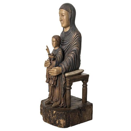 Maria Sitz der Weisheit 72cm Holz Bethleem 3