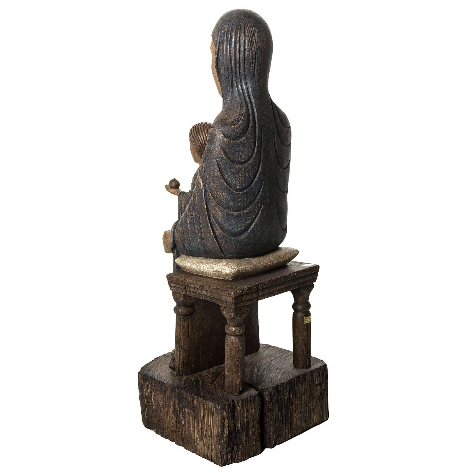 Trone de la sagesse 72 cm bois Bethléem 4