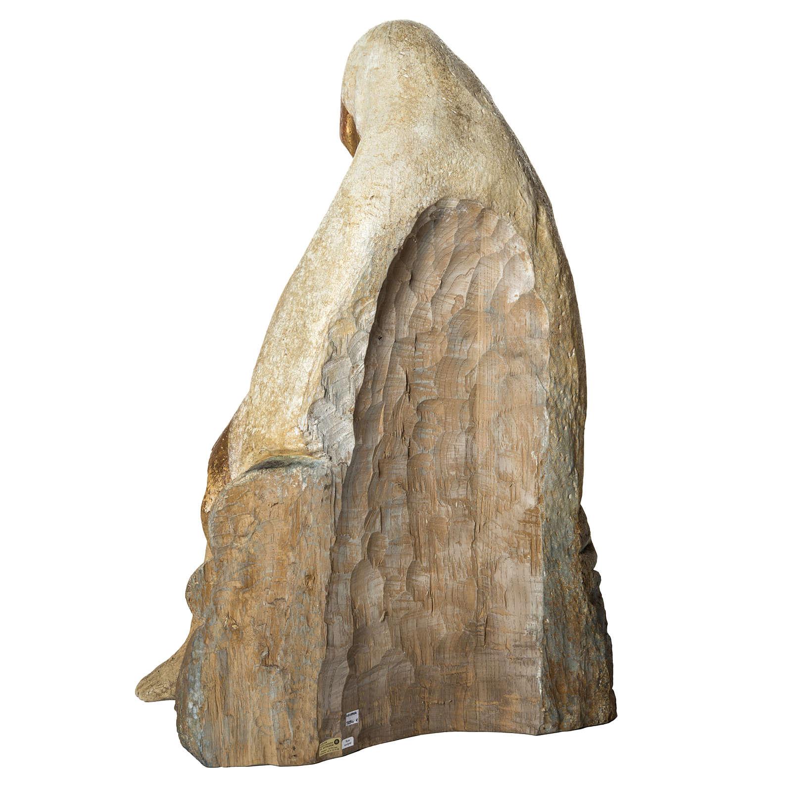 Große Pietà 110cm Holz antikisiertes Finish Bethleem 4