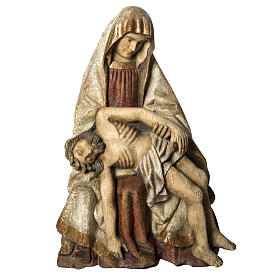 Gran Pietà in old finishing painted wood 110 cm, Bethlehe s1