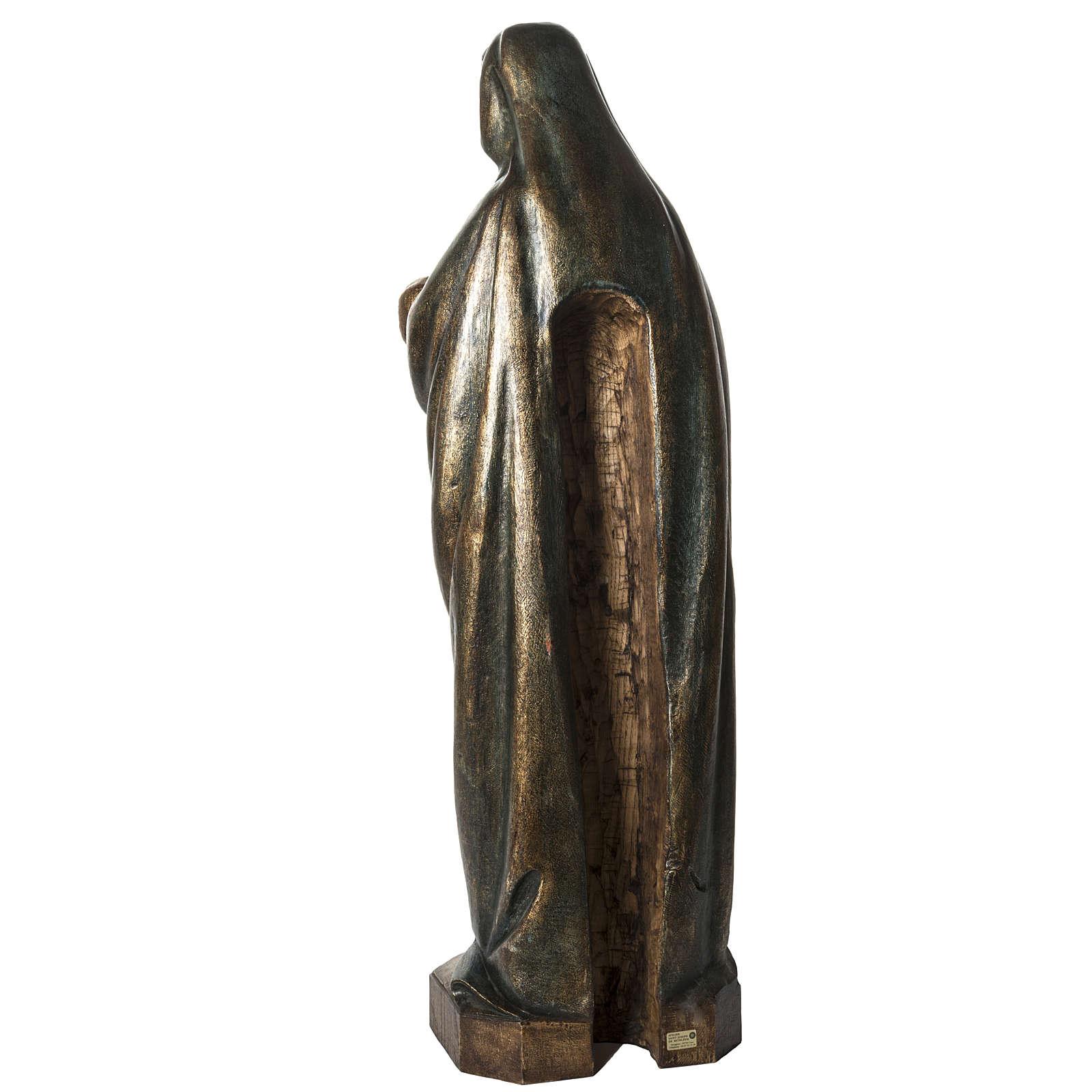 Vierge à l'enfant d'autun 100 cm legno dorato Bethléem 4