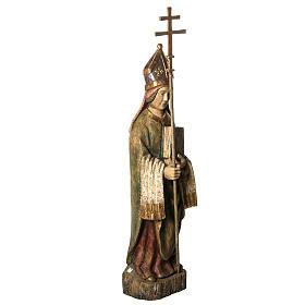 Saint Evêque 95 cm legno dipinto Bethléem s2