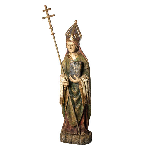 Saint Evêque 95 cm legno dipinto Bethléem 1