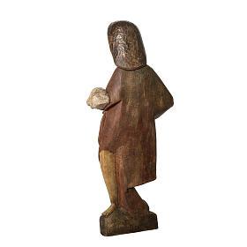 Saint John the Babtist statue, 89cm in painted wood, Bethléem s4