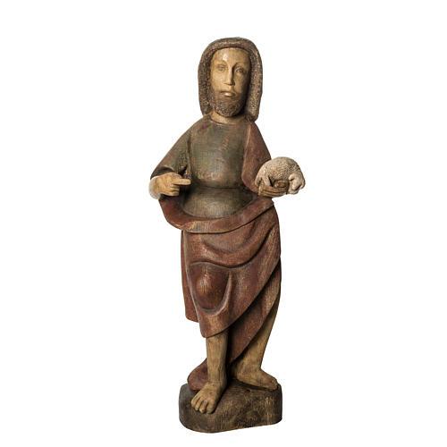 Saint John the Babtist statue, 89cm in painted wood, Bethléem 1