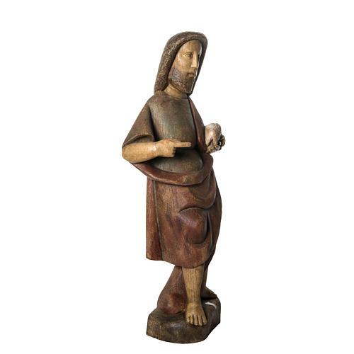 Saint John the Babtist statue, 89cm in painted wood, Bethléem 2