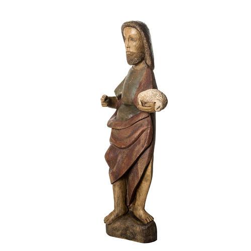 Saint John the Babtist statue, 89cm in painted wood, Bethléem 3