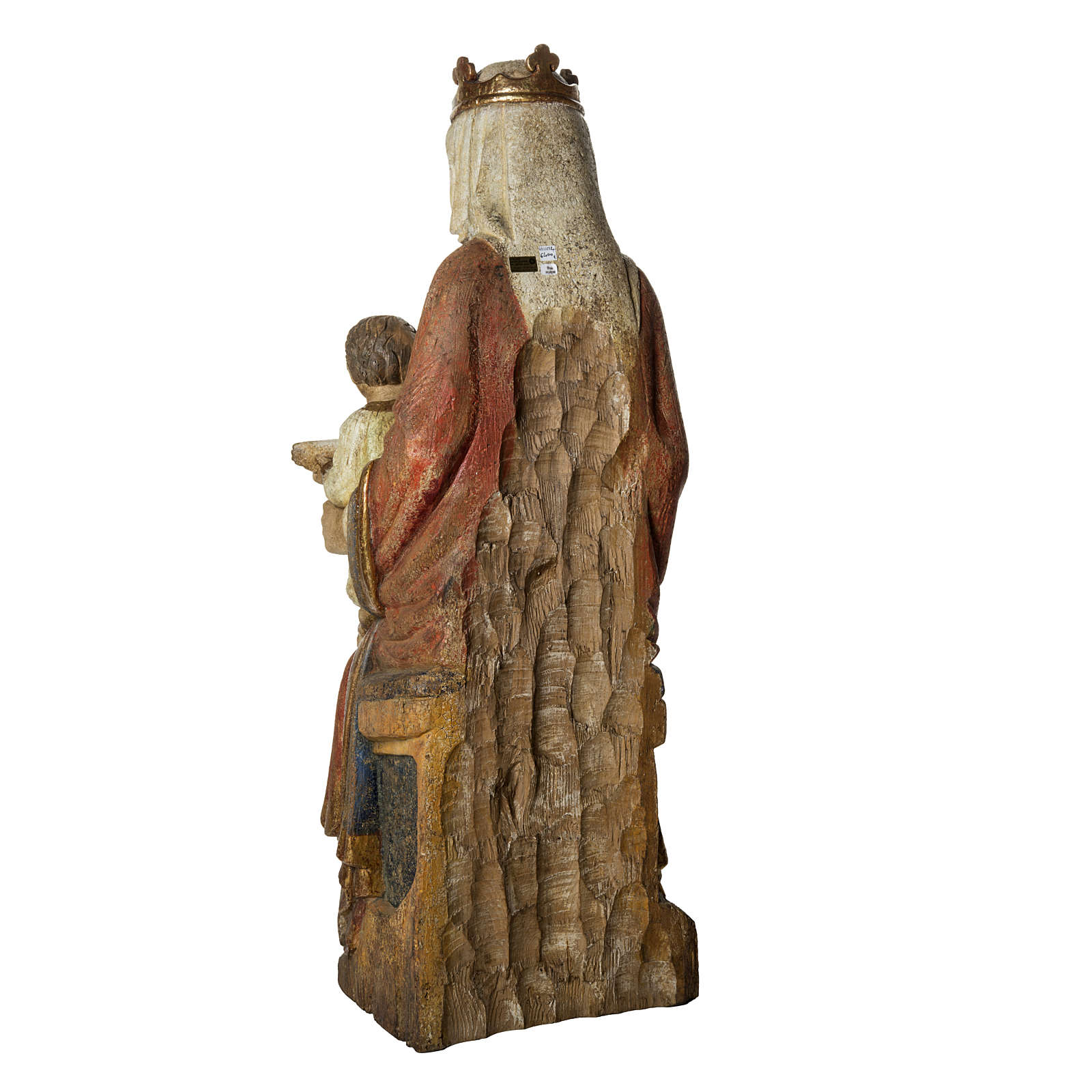 Our Lady of Rosay statue in painted wood 105 cm, Bethleem 4