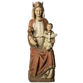 Our Lady of Rosay statue in painted wood 105 cm, Bethleem s1