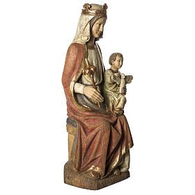 Our Lady of Rosay statue in painted wood 105 cm, Bethleem s2