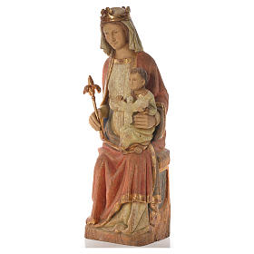 Our Lady of Rosay statue in painted wood 105 cm, Bethleem s6