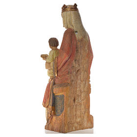 Our Lady of Rosay statue in painted wood 105 cm, Bethleem s7