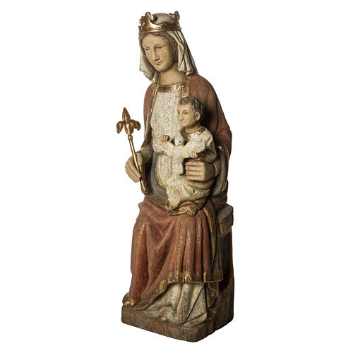 Our Lady of Rosay statue in painted wood 105 cm, Bethleem 3